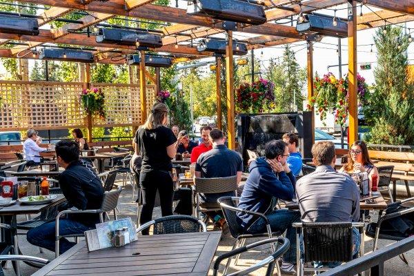 124 Street Restaurant Patio   Edmonton, Alberta